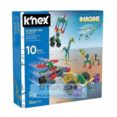 K'Nex 10 Model Fun Building Set Engineering Education Toy for Kids 126 Pieces