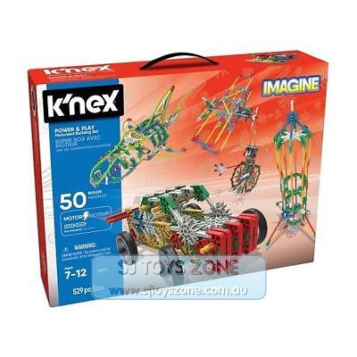K'Nex - Power and Play 50 Model Motorized Building Set Construction Toy 529pc