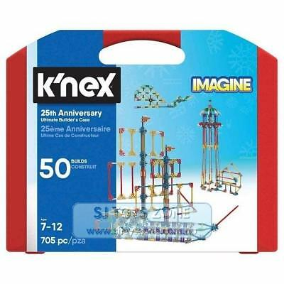 K'Nex - 25th Anniversary Ultimate Builder's Case for Kids 50 Builds 705 Pieces