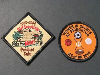Girl Scouts 2 Women In Sports & Make Moost Sales Embroidered Patches Brownies