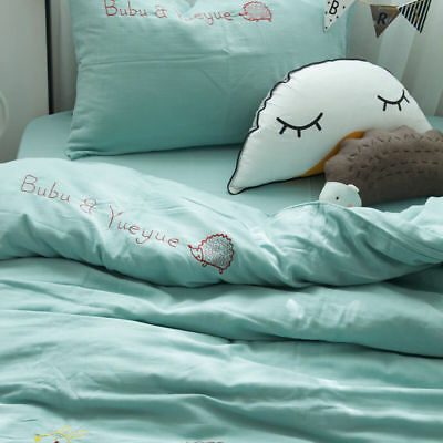 3Pcs100% Cotton Baby Crib Nursery Bedding Set Bed Sheet Quilt Cover Pillowcase A