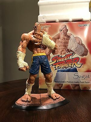 """Rare! Street Fighter - SAGAT 12"""" Resin Statue By SOTA Toys! Collector's Edition!"""