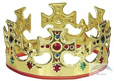 Plastic King Crown with Jewels Queen Prince Royal Costume Accessory HALLOWEEN