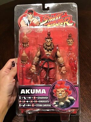 Sota Street Fighter Akuma RED GI VARIANT Rnd 4 Action Figure! SUPER RARE! MINT!