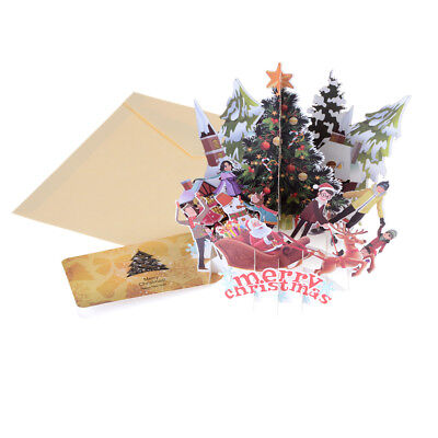 Merry Christmas Xmas Fairy Creative 3D Pop UP Greeting Party Cards Gift #