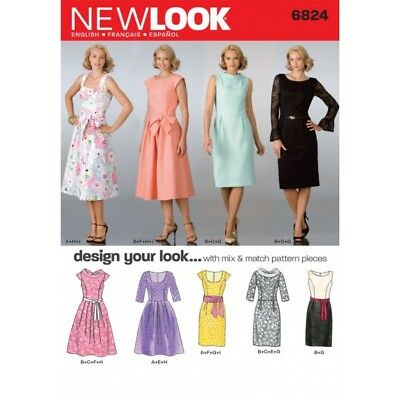 NEW LOOK MISSES\' Design Your Look Dresses Sewing Pattern 6824 ...