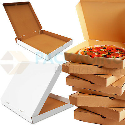 Plain Pizza Boxes, Takeaway Pizza Box, Strong Quality Postal Boxes 7 - 20 Inch