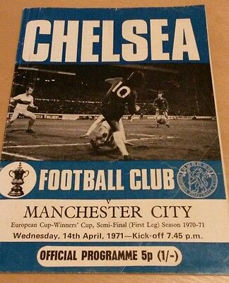 1970/71 ECWC Semi Final, Chelsea vs Man City