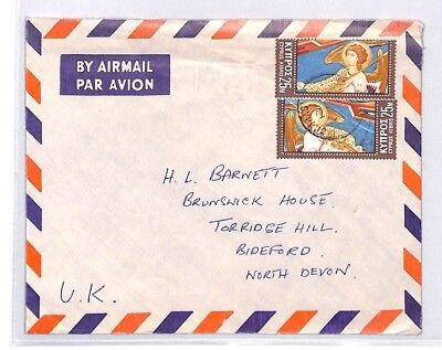 BQ157 c1975 Cyprus Devon Great Britain Airmail Cover {samwells}PTS