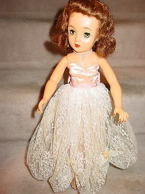 """1959 Vintage Miss Revlon Doll 18"""" Tall In Pink Gown All Original Missing Shoes S"""