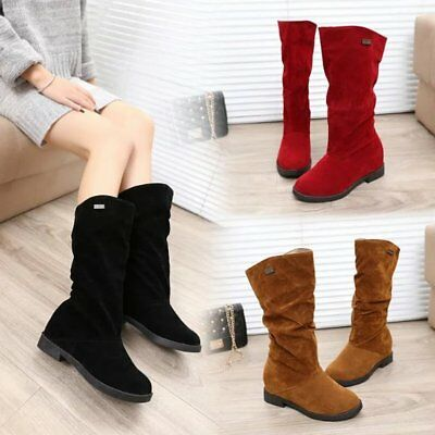 Frosted Zipper Boots Fashion Women Half Short Boots Winter Snow Warm Boots GT