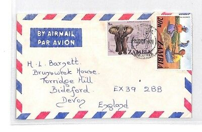 BQ165 1978 The Gambia Devon Great Britain Airmail Cover {samwells}PTS