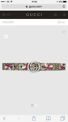 Girls Gucci Belt