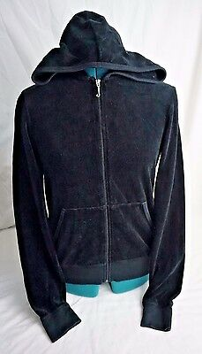 Juicy Couture Black Hoodie Jacket Women Size:XL 80% Cotton / 20% Polyester