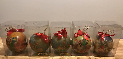 5 WB Warner Brothers Christmas Ornament Bugs Bunny/Tazmanian Devil/Daffy MOTRIX