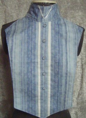 Shades of Blue Strips with Paisley Leave Pattern Tone on Tone Print Reversible