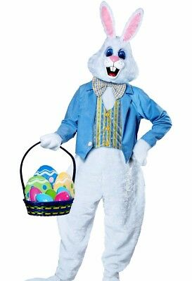 Deluxe Easter Bunny Costume Plush Adult Furry Rabbit Hare Mascot Cosplay - Fast