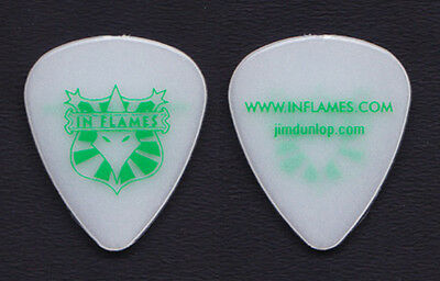 In Flames White/Green Glow Guitar Pick - 2008 Tour