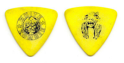 Rob Zombie White Zombie Sean Yseult Yellow Bass Guitar Pick - 1996 Tour