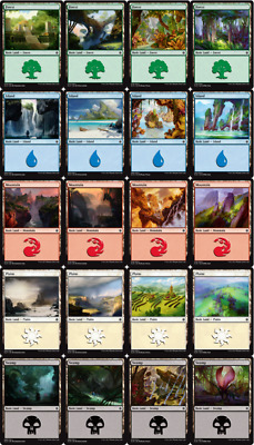 MTG Ixalan XLN Choose your Basic Land Playset (x 4 cards) Buy 2 or more Save 25%