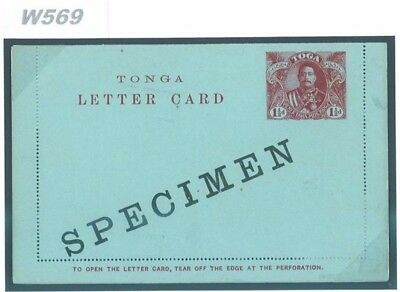 DBW569 TONGA Post. Stat. Specimen/Unused {samwells-covers}