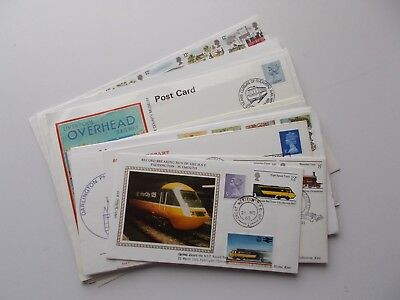 14 x assorted railway themed philatelic covers. See pics below.