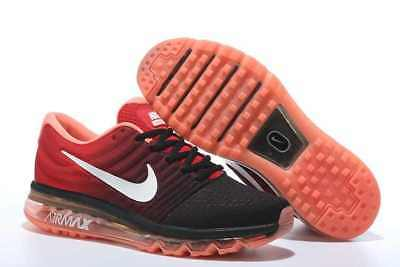 Nike AIR MAX 2017 BLACK RED MENS TRAINERS