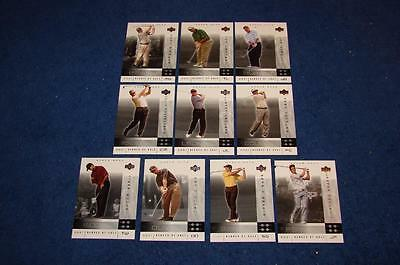 2001 Upper Deck Heroes Of Golf National Convention Promo Set 1-10 (Jd415)