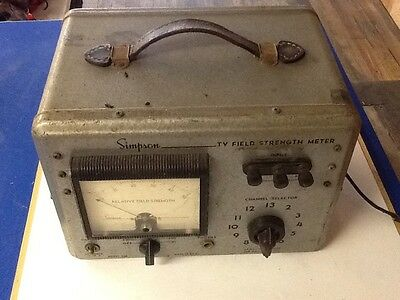 Vintage SIMPSON TV Relative FIELD STRENGTH METER Model 488 ( more Listed / Sold
