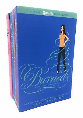 Pretty Little Liars 4 Books Box Set Collection By Sara Shepard, Burned....