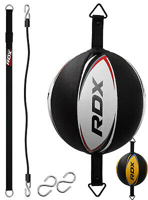 RDX Boxing Training Cow Hide Double End Dodge Speed Ball Leather Punching Bag US