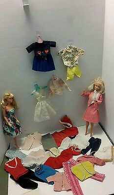 Vintage 1960s Barbie Doll Clothes Midge Skipper 31 pcs Dolls Not Included