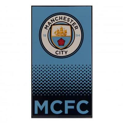 Manchester City FC Large Velour Beach Towel Official MCFC Accessories