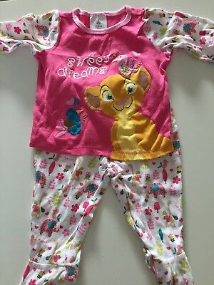 Baby Girls Disney Lion King Pjs 6-9 Months - EXCELLENT CONDITION