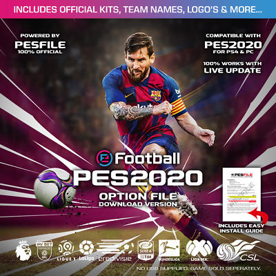 eFootball PES 2020 Option File PS4 - 4K Exclusive - Inc. Updates - Legends Bonus