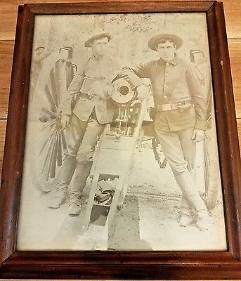 Vintage Print - Spanish American War Soldiers with M1898 3.2 Field Cannon