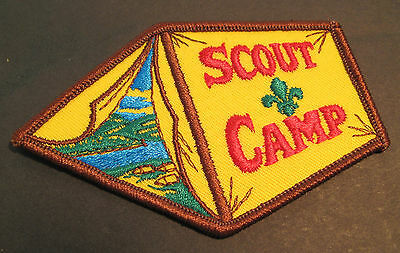 Boy Scouts Canada  Scout Camp Embroidered Patch Cubs