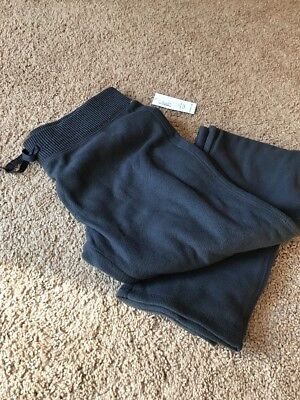 NWT Old Navy Charcoal Gray Fleece pants, Girls Size 10-12 (Large)