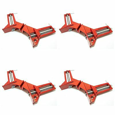 "Toolzone 4pc 100mm 4"" Corner and Mitre Clamps DIY Decorating Clamp Tools Picture"