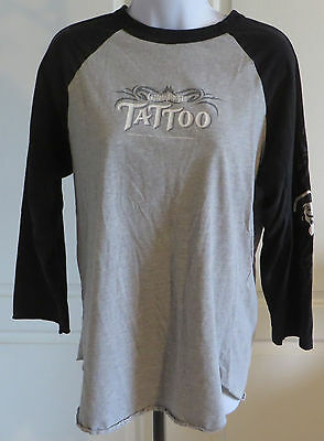 Captain Morgan Tattoo Spiced Rum 3/4 Sleeve Jersey Tshirt