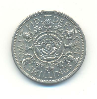 Very Rare.british.two Shillings.1953.unc/bu.key Date.very Collectable.c.130