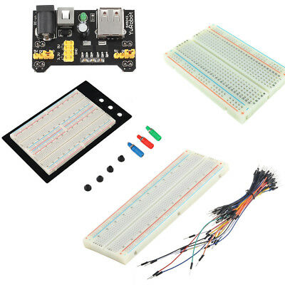 400/830 MB102 Point Breadboard 1660 Power Supply module W 65PCS Jump Wire new