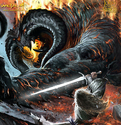 Herr der Ringe: Gandalf vs Balrog Battle of the Peak NEU von Weta Workshop