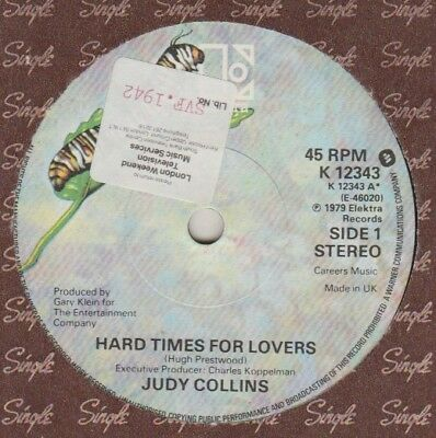 "Judy Collins ""Hard Times For Lovers/Happy End"" Elektra 1979 7"""