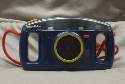 Vintage 1993 Fisher Price Plastic Kids 110 Film Camera, Blue & Yellow - Preowned