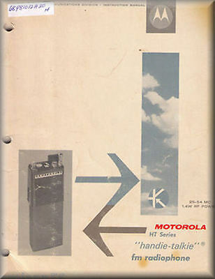 Motorola Manual HT HANDIE-TALKIE 25-54 MHz #68P81012A20