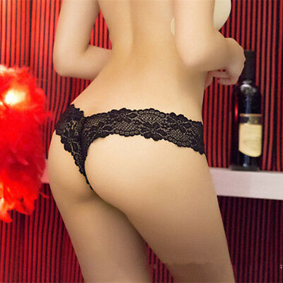 Women G String Sexy Underwear Lace Briefs Panties Transparent Super Thin ....