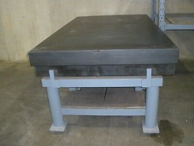 """Large Surface Plate Granite With Stand 4' x 7' x 10"""" Thick Black"""
