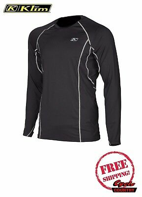 Klim 2018 Aggressor Warm 1.0 Under Shirt Base Layer Long Sleeve Men's New Black