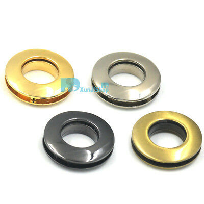 14mm Alloy Grommets Eyelets Canvas Leather Self Backing Screw Hand Purse Buckles